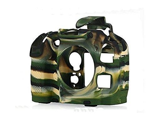 Hihouse Gel de silicona de protección de goma suave bolsa de la cámara de la cubierta de la bolsa compatible para Nikon D800 D810A cámara (D800, 1#)