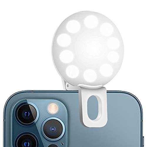 Tellibest Phone Ring Light, 3 Color Light Modes and Adjustable Brightness Clip On Selfie Ring Light Perfect for Vlog, Video, TIK Tok Stuff, Live Streaming, YouTube,Makeup Mirror (Cool&Warm)
