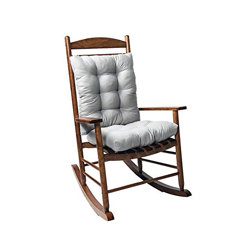 WAQIA Rocking Chair Cushion Pad, 2 Piece Indoor/Outdoor Rocking Chair Cushions Set Non-Slip Overstuffed Patio Chair Cushion