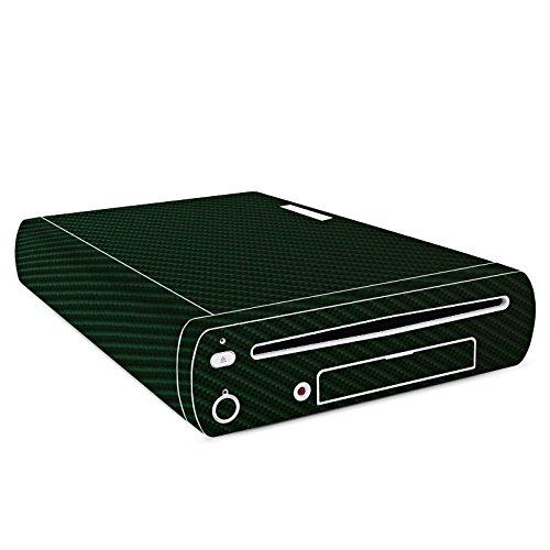DeinDesign Skin kompatibel mit Nintendo Wii U Konsole Folie Sticker Carbon Metallic Look grün