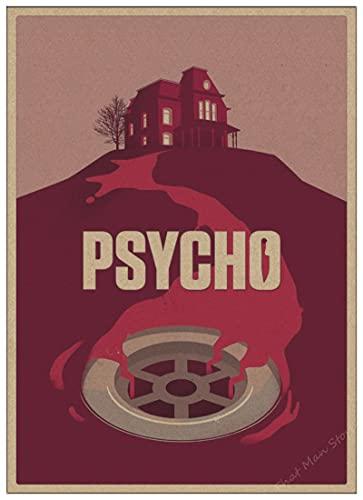 linbindeshoop Horrorfilm Alfred Hitchcock Psycho Horrorfilm Retro Poster Home Dekoration Poster Gemälde Wandposter (LW-3414) 40x60cm Kein Rahmen