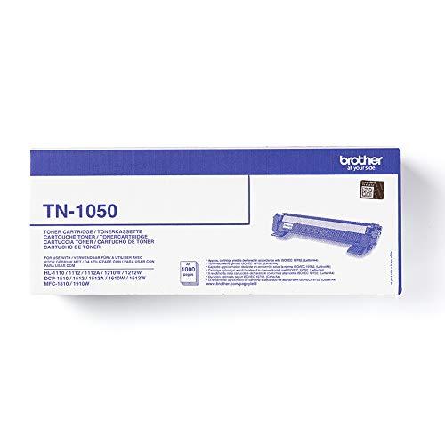 Brother TN1050 - Originaltoner für HL 1110/112 / 112A / 1210W / 1212W, DCP1510 / 1512 / 1512A / 1610W / 1612W, MFC1810 / 1910W-Drucker, Schwarz