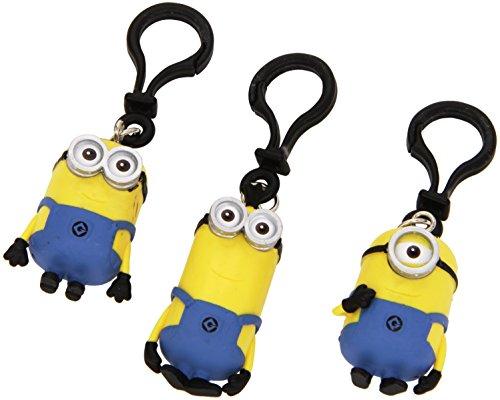 Joy Toy 90226 - Minions 3d PVC-Schlüsselanhänger/Clip On 2,5x2,5x7 cm - 1 Stück (verschiedene Charaktere, sortiert)