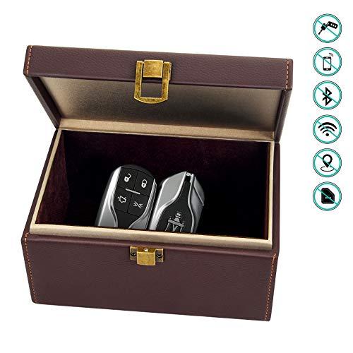 Bolatus Faraday Box, Caja de Bloqueo de Señal de Llave de Coche para Llaves de Coche de Entrada sin Llave, Jaula de Bloqueo de Señal RFID Antirrobo, Caja de Almacenamiento Grande - Marrón