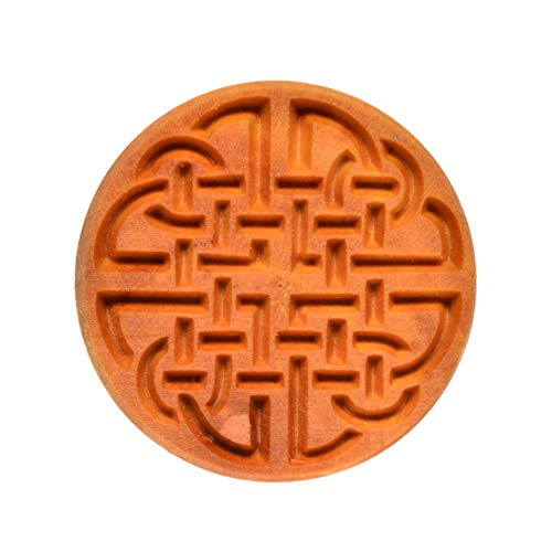 MKM Pottery Tools'Stamps 4 Clay' Large Round Decorative Stamp for Clay (Scl-007 Celtic Knot 1)