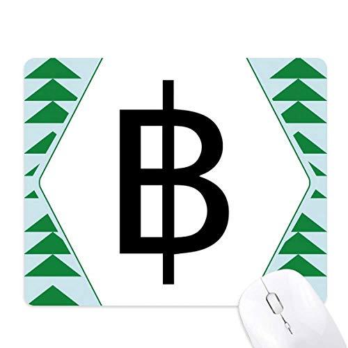 symbole monétaire baht thaïlandais tapis de souris green pine tree tapis en caoutchouc