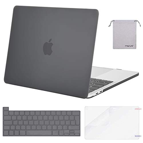 MOSISO Funda Dura Compatible con 2020 2019 MacBook Pro 16 Pulgadas con Touch Bar A2141, Delgado Plástico Carcasa Rígido & Cubierta de Teclado & Protector de Pantalla & Bolsa de Accesorios, Gris