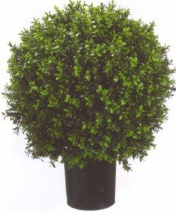 One 2 Foot Outdoor Artificial Boxwood Ball Topiary Bush Potted Uv Plant Silk Tree Warehouse Company Inc