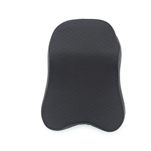 WINOMO Car Neck oreiller 3D respirant voiture appuie-tête mémoire mousse mésange tête reste coussin pour le soulagement de la douleur du cou (noir)