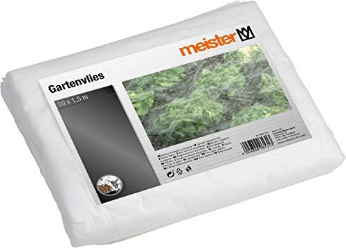 Meister Gartenvlies 10 x 1,5 m - 17 g/m² - PP - Schutz vor Kälte - Luft- & wasserdurchlässig - Geeignet zur Ernteverfrühung - Unterstützt den Reifeprozess / Schutzvlies / Beet-Abdeckung / 9961310