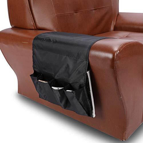 Bolsa de armazenamento de sofá, bolso de sofá, óculos de leitura macios para controles remotos de TV(black)