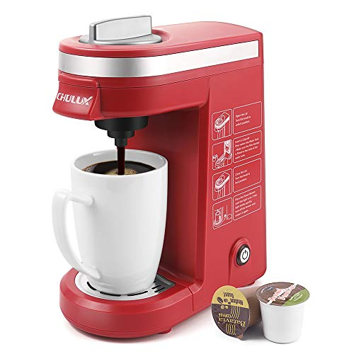 CHULUX Single Cup Coffee Maker Travel Coffee Brewer,Red (Hamilton Beach 49981a Single Serve Scoop Coffee Maker)