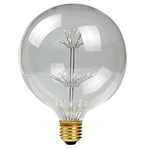 Edison Retro gloeilamp, E27 decoratieve gloeilamp, retrolamp, 2200 K warm wit, 200 lumen, met sterren, glazen lamp of plafondlamp voor nostalgische en retroverlichting Retro 1er G125 warmwit