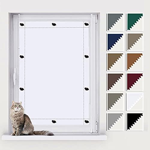 AIYOUVM Verdunkelung Dachfenster, Dachfenster Sonnenschutz ohne Bohren, 43x76cm mit Saugnäpfe, UV Schutz und Hitzeschutz-Rollos für Fenster/Dachfenster in verschiedenen