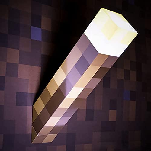 SGTHYJ Creatividad MC Toy Antorcha de Pared Iluminada,Lampara Mine&Craft,Luz de Antorcha,Iluminación de Montaje en Pared,Regalos de Juguete para Niños,Decoración del Hogar