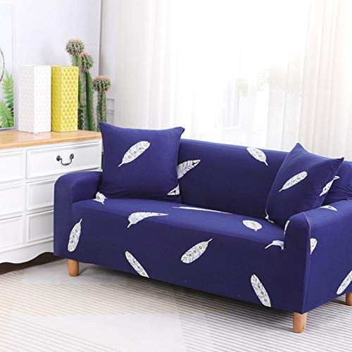 HXTSWGS Fundas Estilo Jacquard para sofá,Funda de sofá elástica, Tejido elástico, Funda Protectora para Muebles-Azul 5_145-185cm