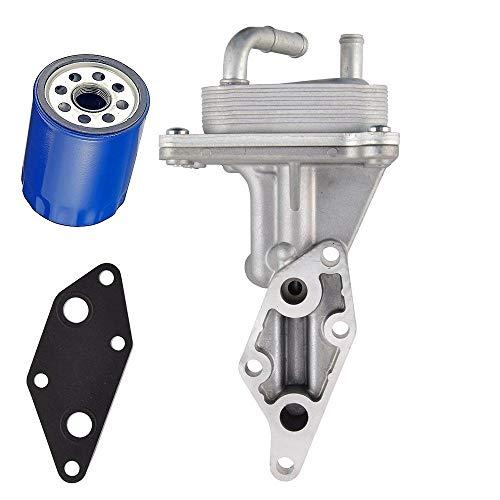 Engine Oil Cooler with Bracket, Gasket And Oil Filter Compatible for 2007-2013 Nissan Altima 2.5L Base S SL Hybrid for Nissan Sentra SE-R, Spec V 21300-JA06A 21304-JA00A