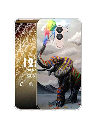 Sunrive Kompatibel mit DOOGEE BL12000 Hülle Silikon, Transparent Handyhülle Schutzhülle Etui Hülle (Q Elefant 1)+Gratis Universal Eingabestift MEHRWEG