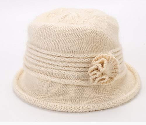ZCZWQ El Nuevo Sombrero de Punto Dama Tapa de ollas línea Sombrero...