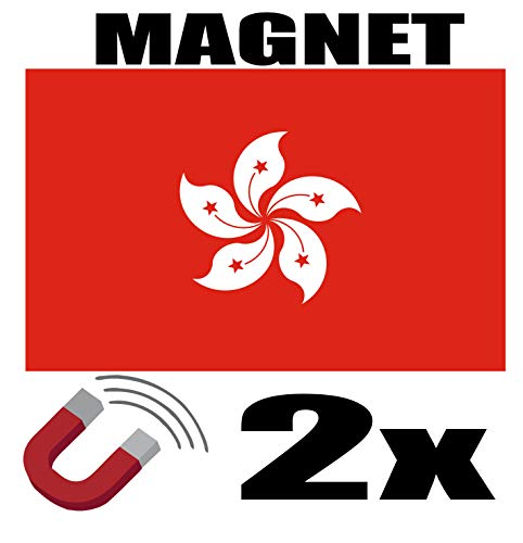SAFIRMES 2 x Hongkong Flagge Magnet 6 x 3 cm Magnet Deko Hong Kongi Magnet Kühlschrank