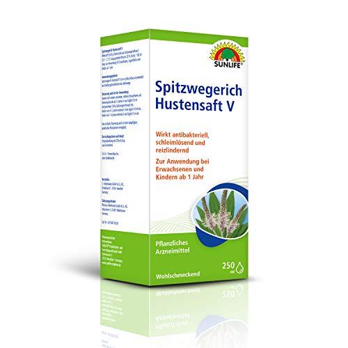 SUNLIFE Spitzwegerich Hustensaft V Sirup zur Anwendung für Erwachsene, Jugendliche und Kinder ab 1 Jahr250ml