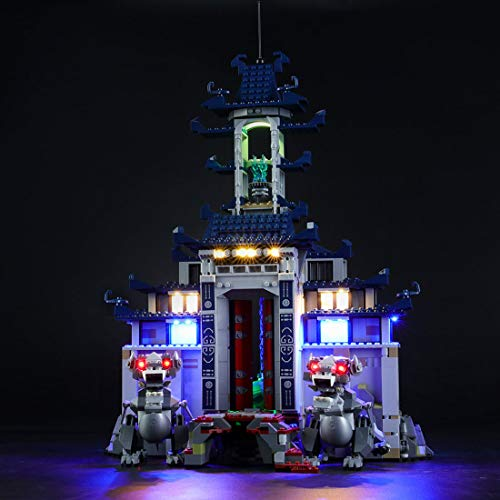 POXL Licht LED Beleuchtungsset Kit Für Lego Ninjago Ultimativ Ultimatives Tempel-Versteck 70617 Beleuchtung - Ohne Lego Set