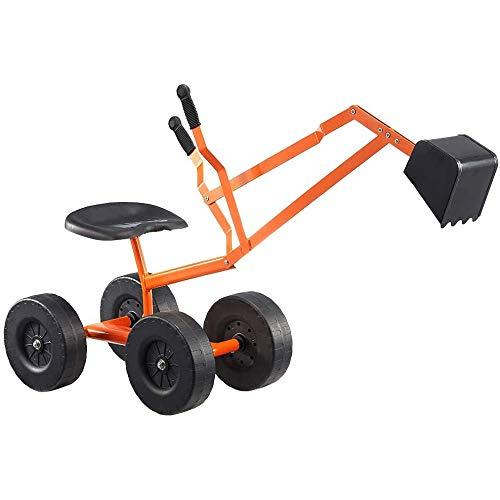 Zeyujie EXCAVADOR DE ARRANQUE ANTURO Los niños al aire libre juguete para niños Grúa de trabajo con ruedas de 8 pulgadas Caja de arena grande, carretilla elevadora de playa, vehículo de construcción d