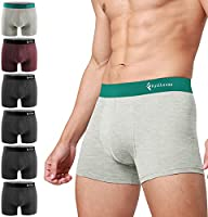 Men's Boxer Shorts, Underwear, Set of 6, Closed Front, Absorbent and Quick Drying, Low Rise Boxer Briefs
