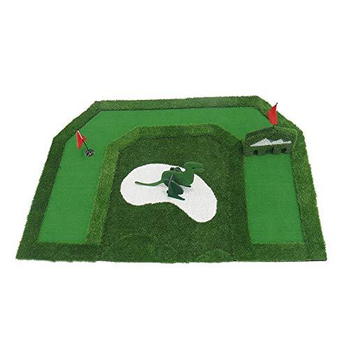 YAOSHIBIAN- Golf Sogno per Bambini Green Youth Indoor Exerciser Mini Greens Fairway Training Set Training Mat Attrezzatura da Golf (Colore...