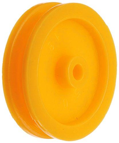 sourcing map 20 Stück Orange Plastik DIY Keilriemenscheibe Keilriemen für RC Auto Flugzeug DE de