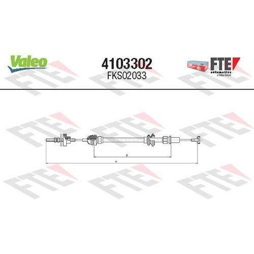 Valeo 4103302 - Seilzug, Kupplungsbetätigung