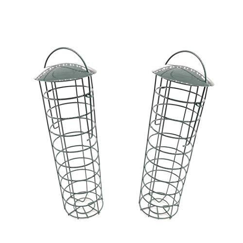 LIPETLI Ejercito Verde Metal Al Aire Libre Aves Comederos Bandeja Colgante Comedero Decorar Terraza Balcón Jardín