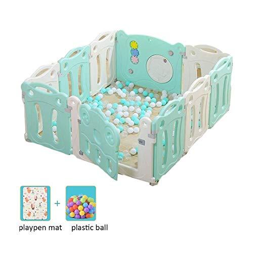 J+N Kinderschutzzaun Playpens Babyplaypen Extra Large Kinderschutztür Bodenmatte Plastikkugel Stable Kinderlaufstall (Size : 150X130X65CM)