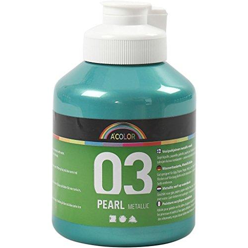 A-Color Farba akrylowa, zielona, 03 – metaliczna, 500 ml