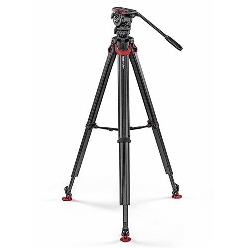 Sachtler System FSB 8 FT Sideload Fluid Head with Flowtech 75 Carbon Fiber Tripod & Mid Level Spreader