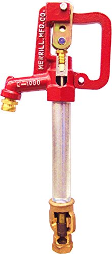 "Merrill MFG CNL7502 No Lead Frost Proof CNL-1000 Series Yard Hydrant, 3/4"" Pipe Connection, 1"" Galvanized Pipe, 2' Bury Depth, 56.5"" Total Length, 56.5"""