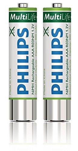 Philips LFH9154 Ni-MH-Akkus (AAA), 1000 mAh, grün/weiß