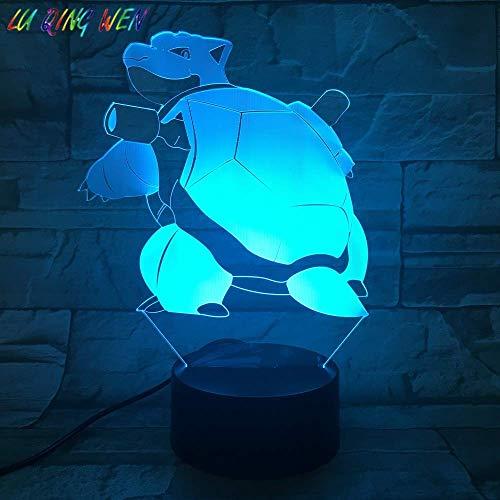 Anime Tierelfen 3D Illusionslampe für Kinder Jungen Mädchen Geschenk 3D Nachtlicht für Schlafzimmer neben Tisch, 16 Farbwechsel LED Stimmungslampe Schreibtisch Tischlampe Kinder Geschenk