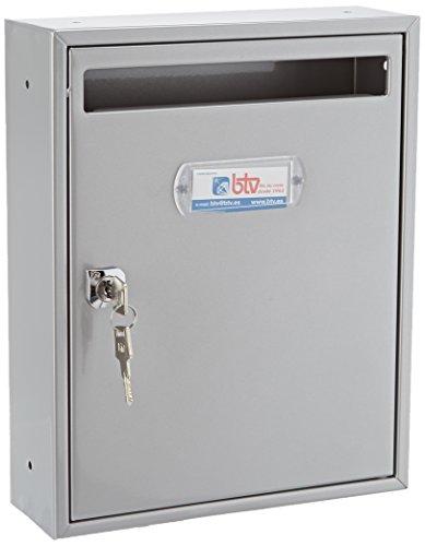 Btv teide - Buzon vertical -28 acero plata/plata