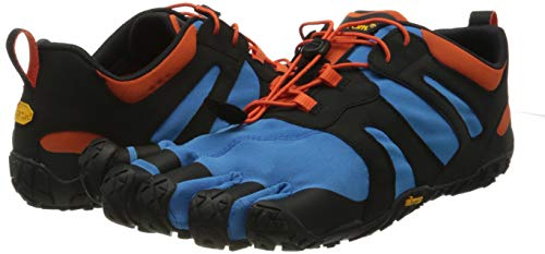 Vibram Men's V-trail 2.0 Sneaker, Blue/Orange, 45 EU