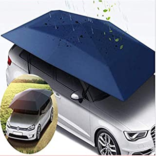 SRBI 400 * 210cm 210D Oxford Cloth Car Shelter Umbrella Tent Roof Shade Cover Cloth Roof Waterproof Anti UV- Dark Blue