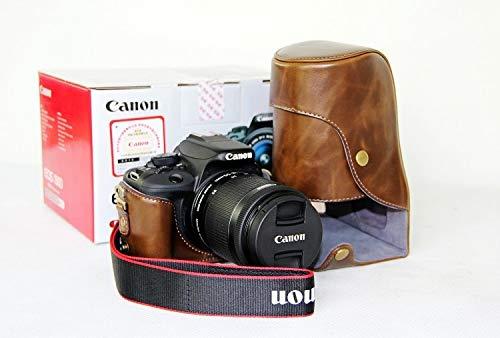 Premium Leder Case Camera Bag für Canon EOS 100D/110D/550D mit Shoulder-Strap (3 Farben verfügbar),Brown