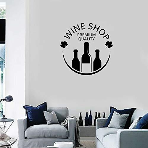 hulinhai Botellas de Vino con Aplique de Vinilo para vinotecas vinilos Decorativos murales vinotecas Decorativas escaparates decoración