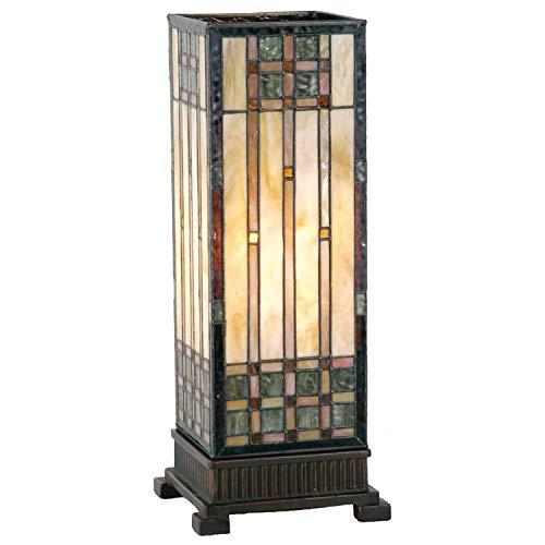 Lumilamp 5LL-9221 Tischleuchte Tischlampe Tiffany Stil 18 * 45 cm 1x E27 max 60w dekoratives buntglas handgefertigt glasschirm