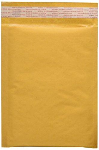 25 EcoSwift Size #0 7.5 x 10 Kraft Bubble Mailers Self Sealing Bulk Padded Shipping