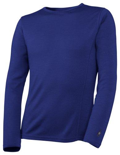 Smartwool T-Shirt à col Rond à Manches Longues Bleu Bleu Marine Taille L