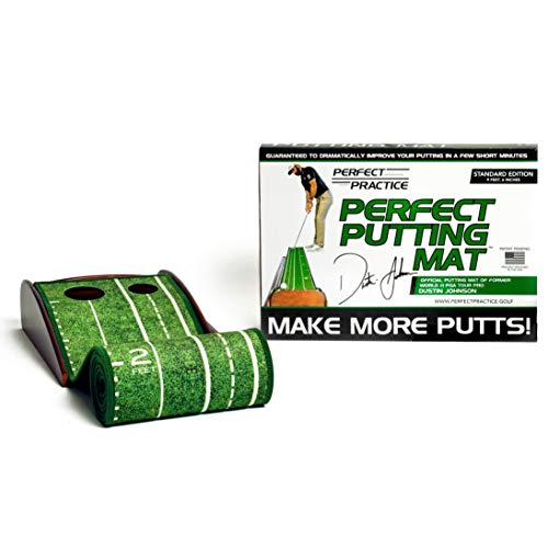 PERFECT PRACTICE Perfect Putting Mat - Official Putting Mat of Dustin Johnson, Standard Edition