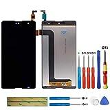 swark Pantalla LCD compatible con Wiko Robby negro (sin marco), pantalla táctil, digitalizador de...