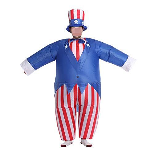 Viesky Conjunto de traje inflable para disfraz de Halloween para adulto de To Sam de la Independencia Americana