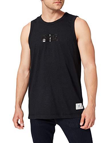 Tommy Jeans Tjm Tonal Box Logo Tank T-Shirt, Black Htr, XL Uomo